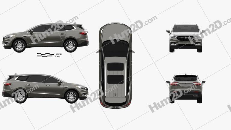 Buick Enclave 2017 Clipart Bild