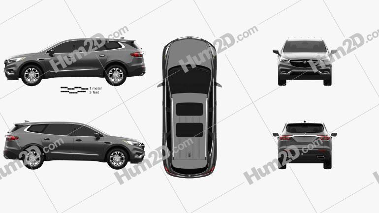 Buick Enclave Avenir 2017 Clipart Image