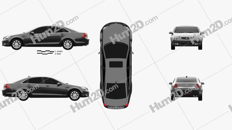 Buick Park Avenue CN-spec 2007 car clipart