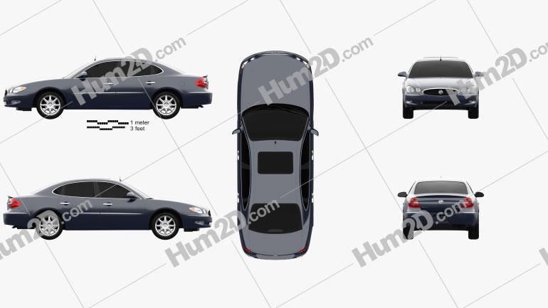 Buick LaCrosse CXS 2005 car clipart
