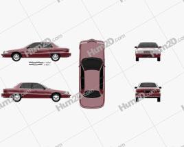Buick Skylark sedan 1995 car clipart