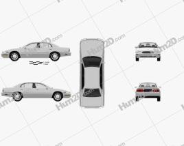 Buick Park Avenue 1996 car clipart