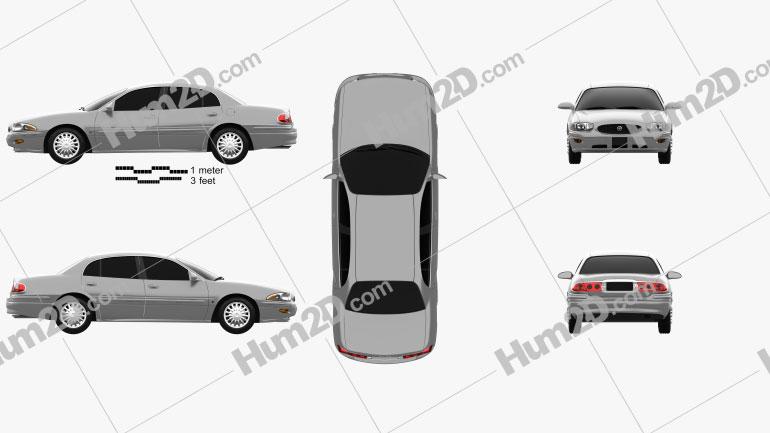 Buick LeSabre Limited 2000 car clipart
