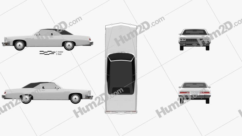 Buick LeSabre convertible 1975 Clipart Image