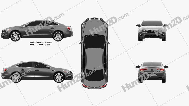 Buick LaCrosse Avenir 2018 Clipart Image