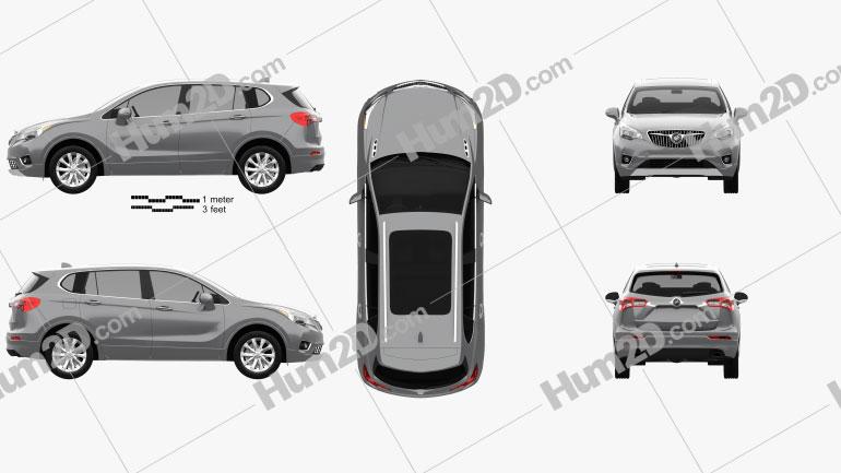 Buick Envision 2019 Clipart Bild