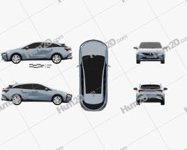Buick Velite 6 PHEV 2018 car clipart