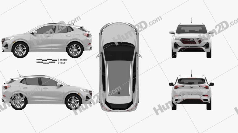 Buick Encore GX ST 2019 Imagem Clipart