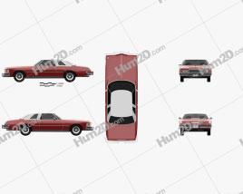 Buick Riviera GS 1975 car clipart