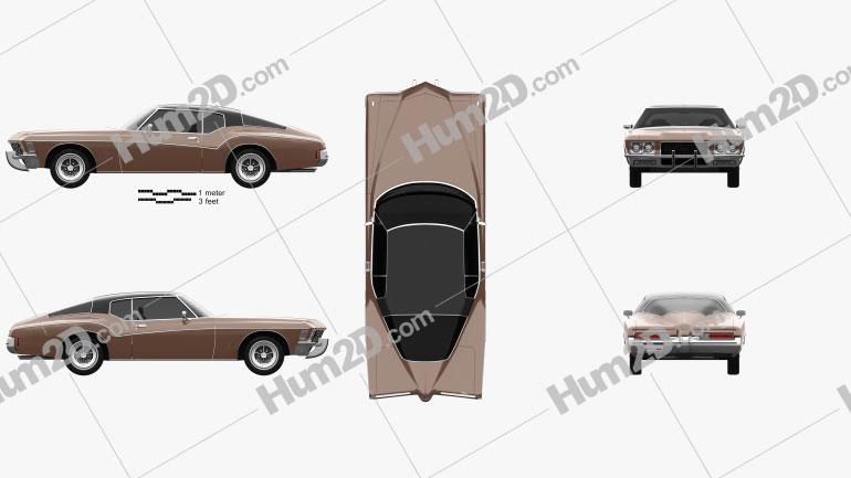 Buick Riviera 1972 Imagem Clipart