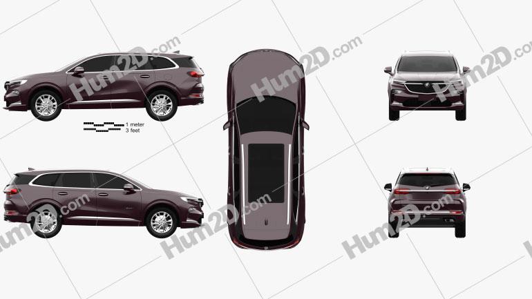 Buick Enclave Avenir CN-spec 2019 car clipart