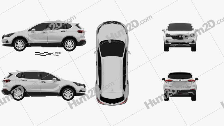 Buick Envision 2020 car clipart