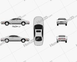 Buick Riviera 1995 car clipart