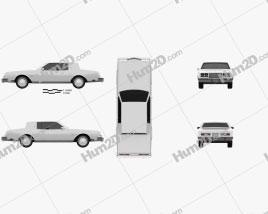 Buick Riviera 1980 car clipart