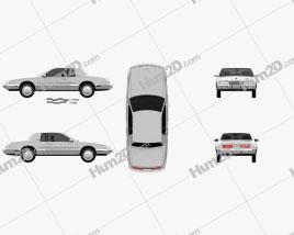 Buick Riviera 1989 car clipart