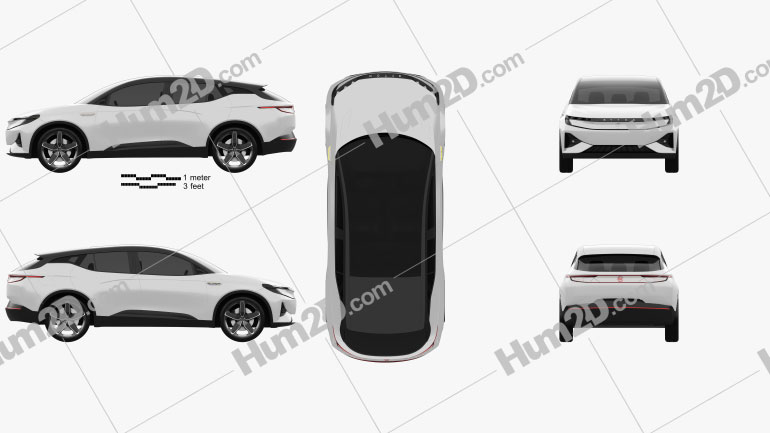 Byton Electric SUV 2018 car clipart