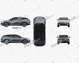 Byton M-byte 2020 car clipart