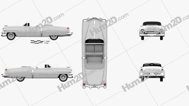 Cadillac Eldorado Convertible 1953 car clipart