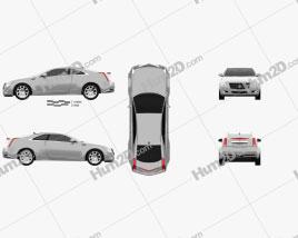 Cadillac CTS 2011 car clipart