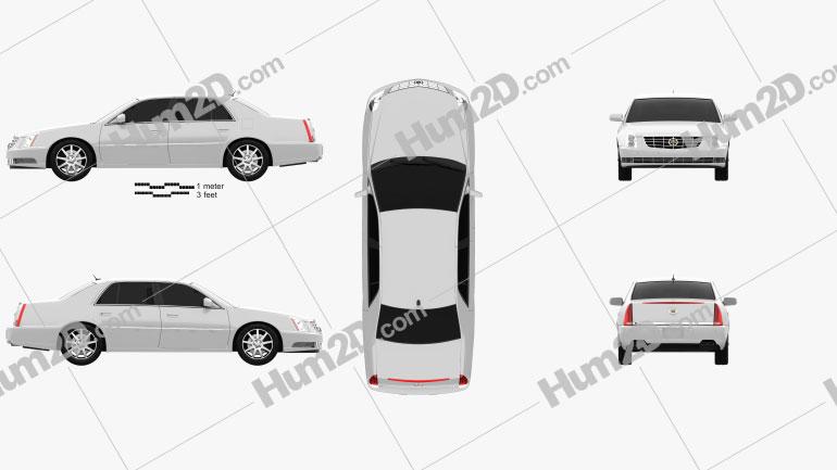 Cadillac DTS 2011 Clipart Image