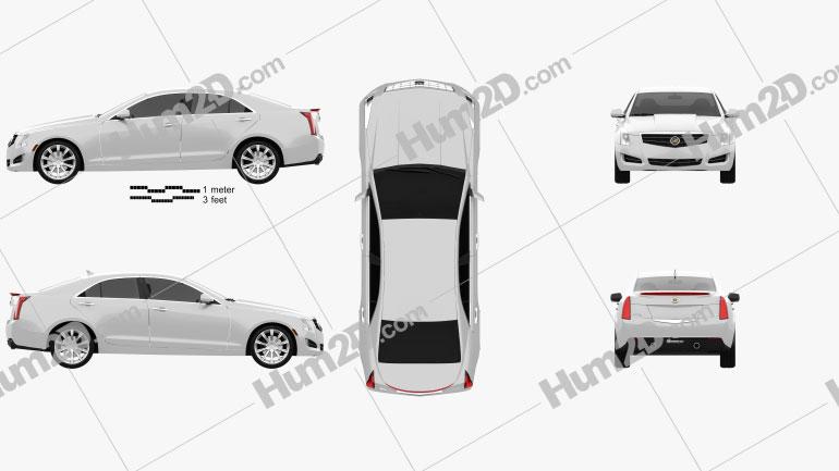 Cadillac ATS 2013 car clipart