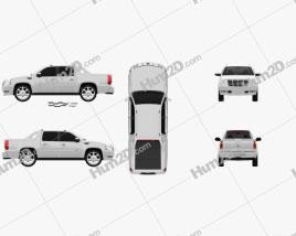 Cadillac Escalade EXT 2011 car clipart