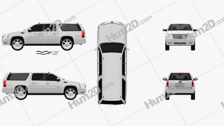 Cadillac Escalade ESV 2011 car clipart