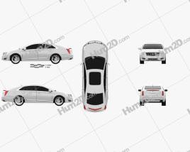Cadillac XTS 2013 car clipart