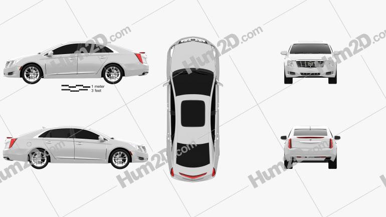 Cadillac XTS 2013 Clipart Image