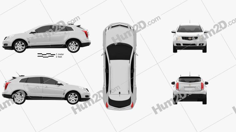 Cadillac SRX 2013 Clipart Image