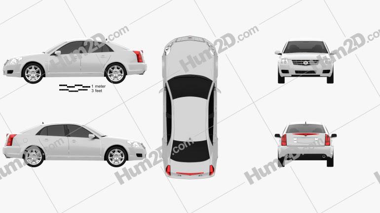 Cadillac BLS sedan 2009 Clipart Image