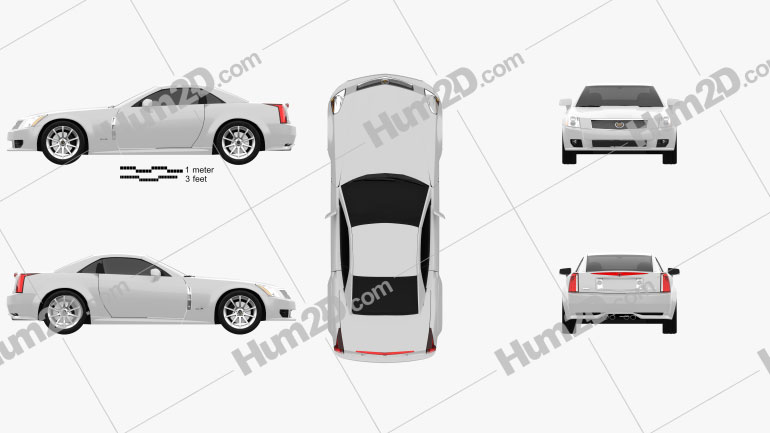 Cadillac XLR 2009 Clipart Image