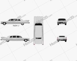 Cadillac Fleetwood 75 sedan 1959 car clipart