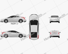 Cadillac ELR 2014 car clipart