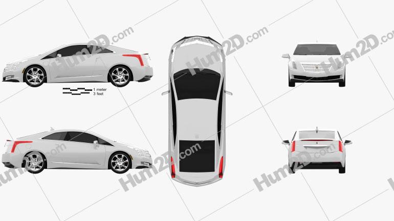 Cadillac ELR 2014 Clipart Bild