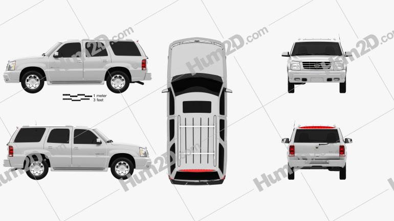 Cadillac Escalade 2002 Clipart Image