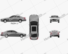 Cadillac CTS 2014 car clipart