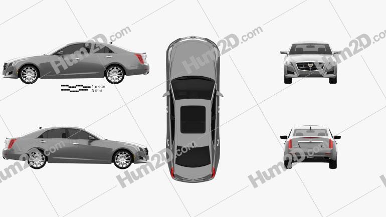 Cadillac CTS 2014 Clipart Image