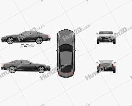 Cadillac Elmiraj 2013 car clipart