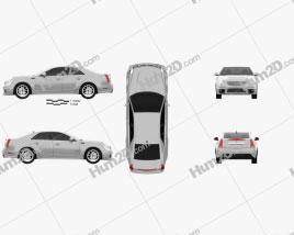 Cadillac CTS-V sedan 2009 car clipart