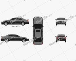 Cadillac SLS 2009 car clipart