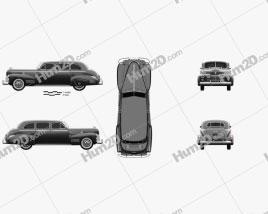 Cadillac Fleetwood 75 touring sedan 1941 car clipart