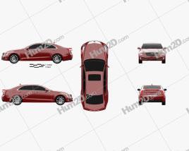 Cadillac ATS L 2015 car clipart