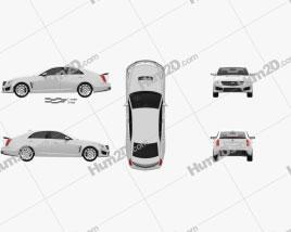 Cadillac CTS V 2016 Clipart