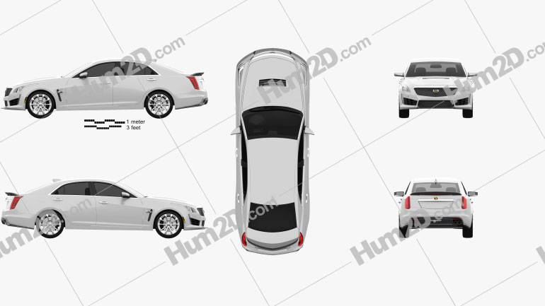 Cadillac CTS V 2016 car clipart