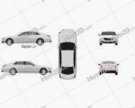 Cadillac CT6 2016 car clipart