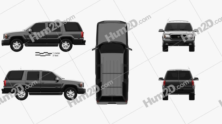 Cadillac Escalade 1999 car clipart