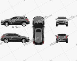 Cadillac XT5 2016 car clipart