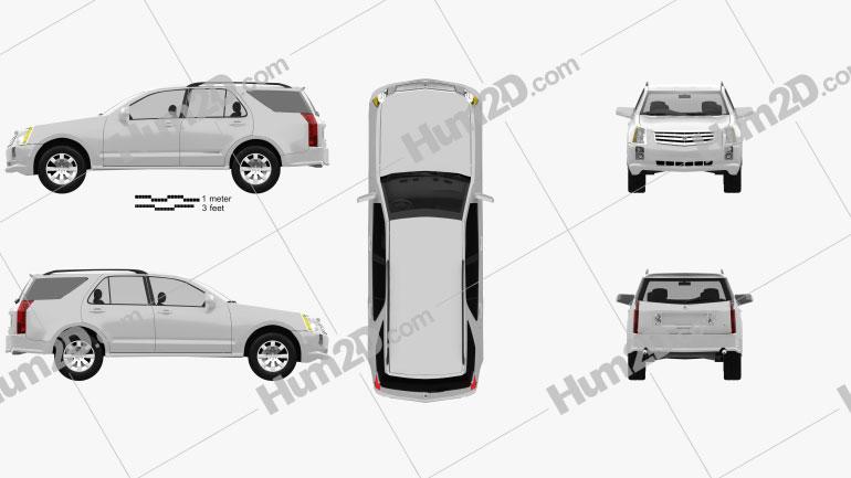Cadillac SRX 2005 car clipart