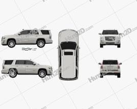 Cadillac Escalade (EU) 2015 car clipart